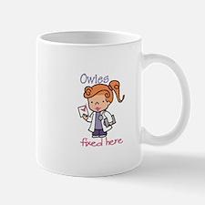 Owies Fixed Here Mugs