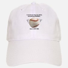 Baseball Pun-- Baseball Baseball Cap