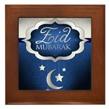 Royal Blue Eid Mubarak Framed Tile