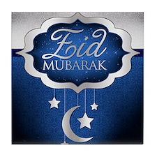 Royal Blue Eid Mubarak Tile Coaster