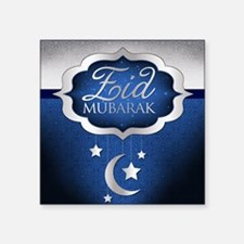 "Royal Blue Eid Mubarak Square Sticker 3"" x 3"""