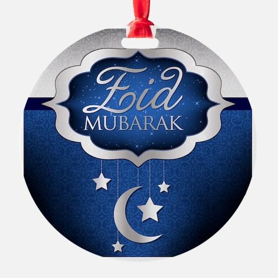 Royal Blue Eid Mubarak Ornament