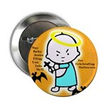 Baby Jesus Halloween Button