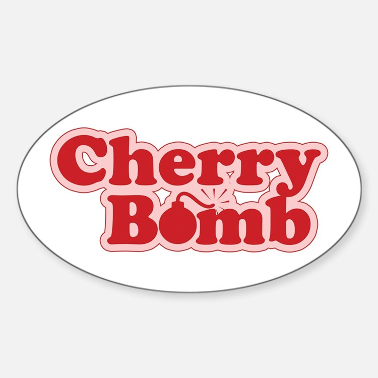 Cherry Bomb Oval Decal