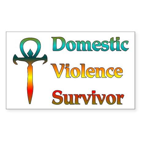 Domestic Violence Survivor Rectangle Sticker
