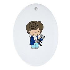 Veterinarian Boy Ornament (Oval)