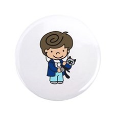 "Veterinarian Boy 3.5"" Button (100 pack)"
