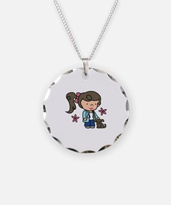 Girl Veterinarian Necklace
