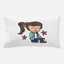 Girl Veterinarian Pillow Case