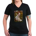 Windflowers / Golden Women's V-Neck Dark T-Shirt