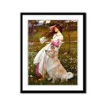 Windflowers / Golden Framed Panel Print