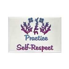 Practice Self-Respect Rectangle Magnet