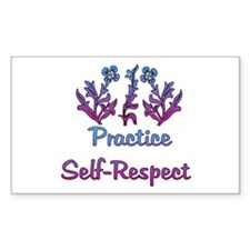 Practice Self-Respect Rectangle Decal