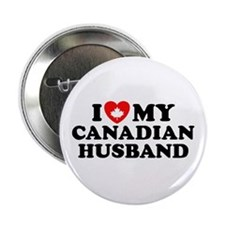 I Love My Canadian Husband Button