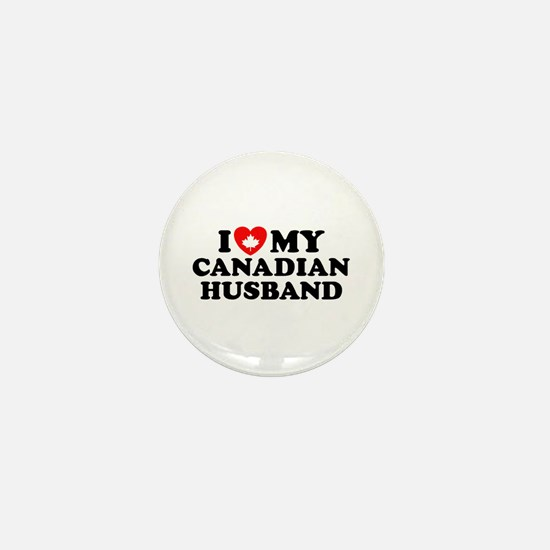 I Love My Canadian Husband Mini Button