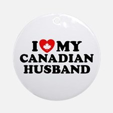 I Love My Canadian Husband Ornament (Round)