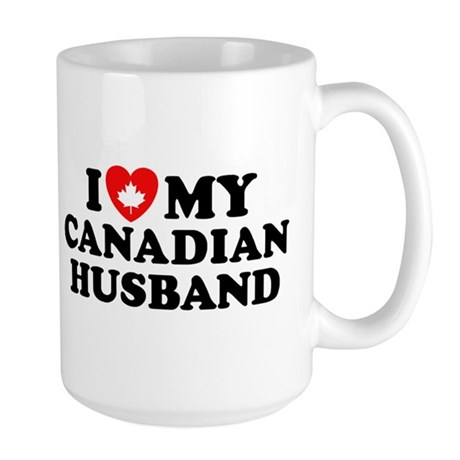 I Love My Canadian Husband Large Mug
