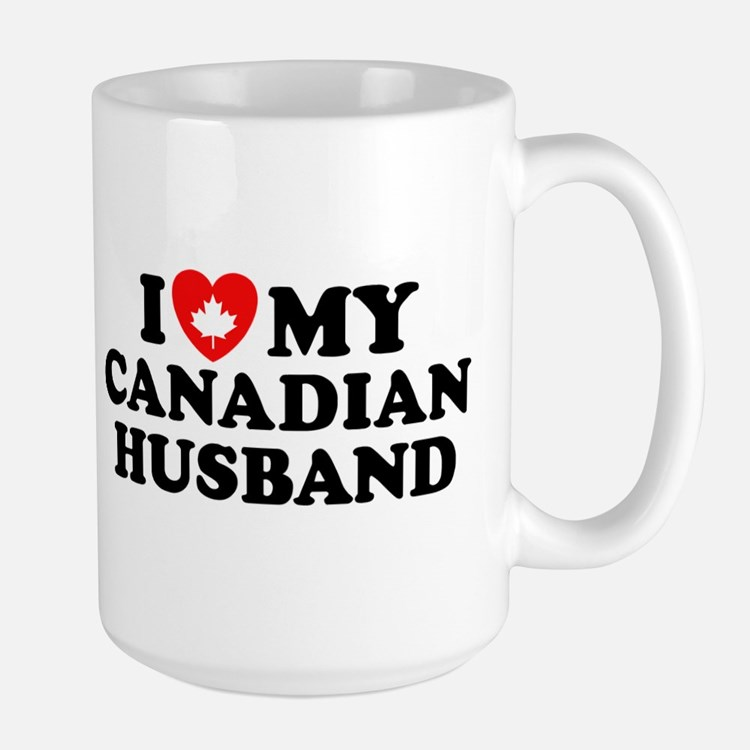 I Love My Canadian Husband Mug