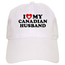 I Love My Canadian Husband Baseball Cap