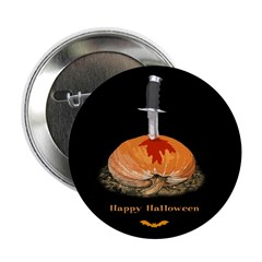 Bleeding Pumpkin Button