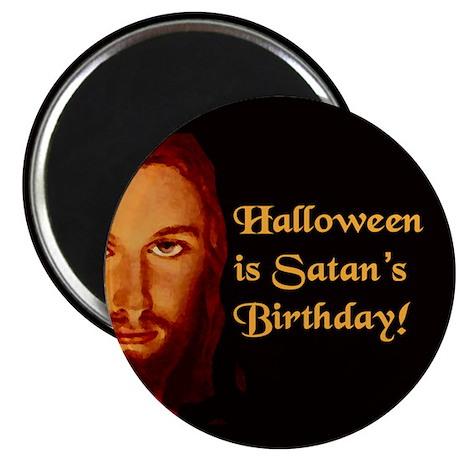 "Halloween Satan's Birthday 2.25"" Magnet (10 pack)"