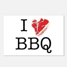 I Love BBQ Postcards (Package of 8)
