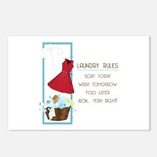 Laundry Rules Postcards (Package of 8)