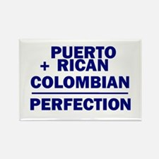 Puerto Rican + Colombian Rectangle Magnet