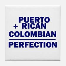 Puerto Rican + Colombian Tile Coaster