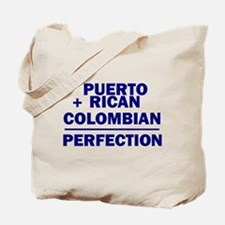 Puerto Rican + Colombian Tote Bag