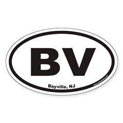 Bayville NJ BV Euro Oval Decal