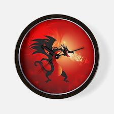 Unique Red dragon fire Wall Clock