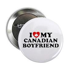 I Love My Canadian Boyfriend Button