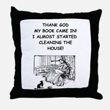 reader Throw Pillow