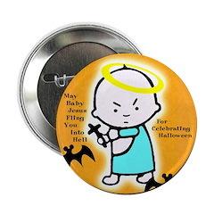 Baby Jesus Halloween Button