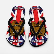 British Bulldog Union Jack Flip Flops