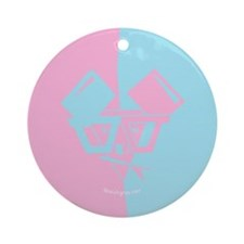 Abstract Al B. Mouse Ornament (Round)