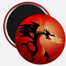 Funny dragon Magnets
