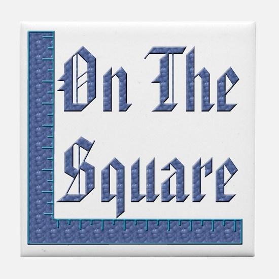 Masonic 'On The Square' Tile Coaster
