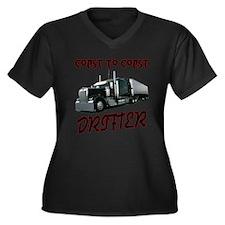 Coast to Coast Drifter Women's Plus Size V-Neck Da