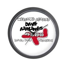 Dave Airlines Wall Clock
