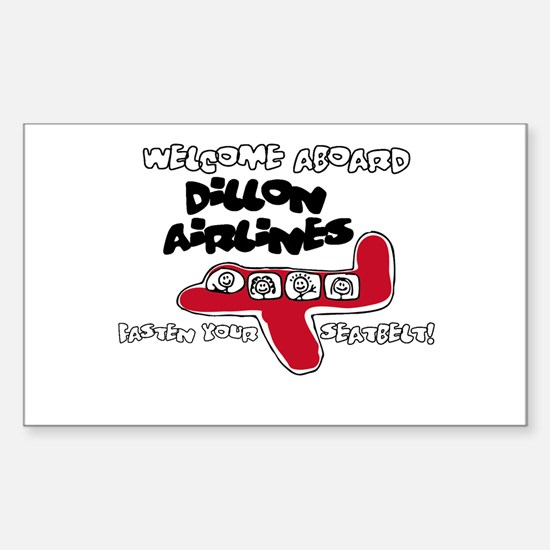 Dillon Airlines Rectangle Decal