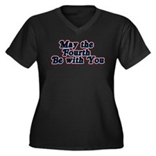May the Fourth be with You Women's Plus Size V-Nec
