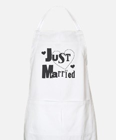 Just Married Black Apron