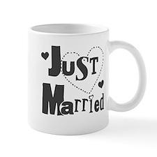 Just Married Black Small Mug