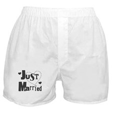 Just Married Black Boxer Shorts