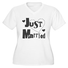 Just Married Black T-Shirt