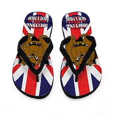 Union Jack British Bulldog Flip Flops