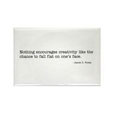 Nothing encourages creativity Rectangle Magnet (10