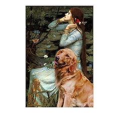 Ophelia & Golden Retriever Postcards (Package of 8